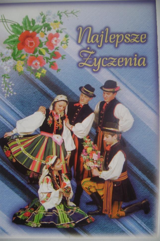 Pocztówka regionalna Najlepsze Zyczenia z Zespołem Łowiczanie 013