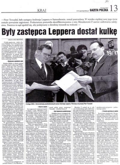 Artykuł z Gazety Polskiej o Trznadlu