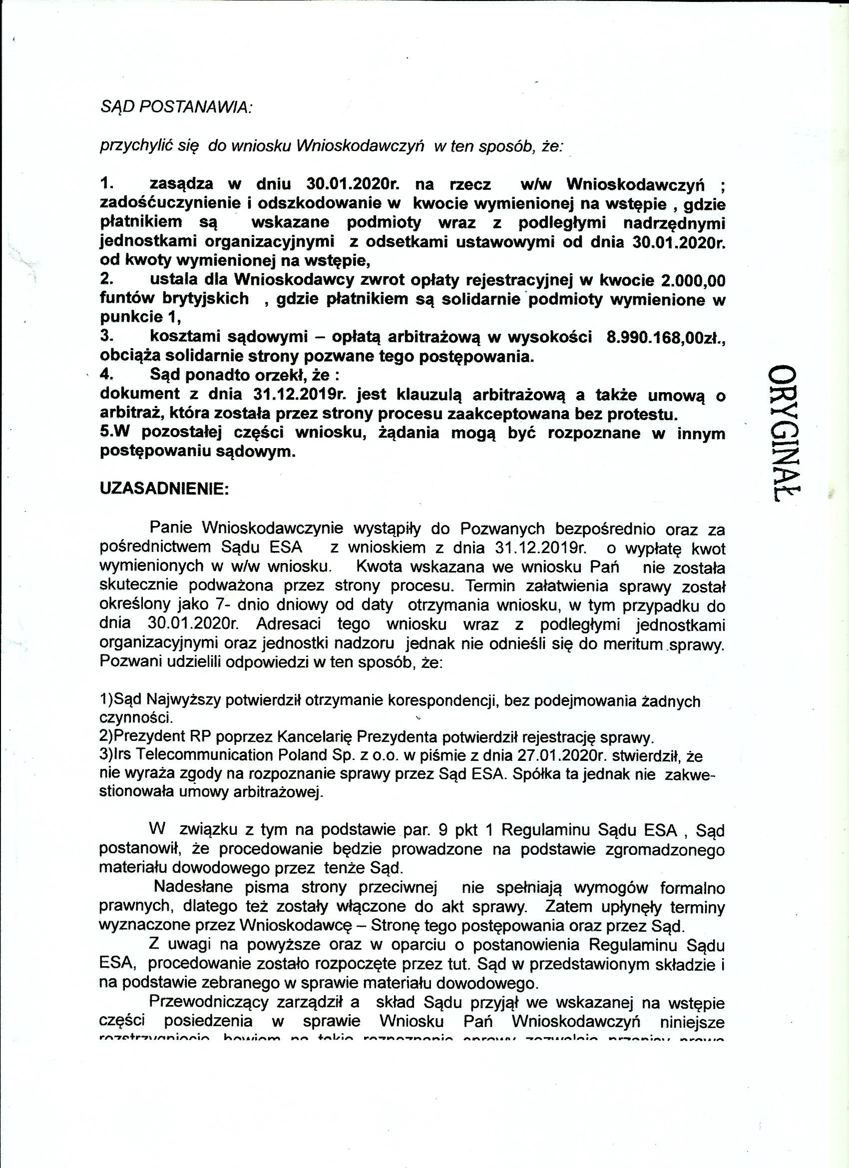 wyrok ESA -skan str 3